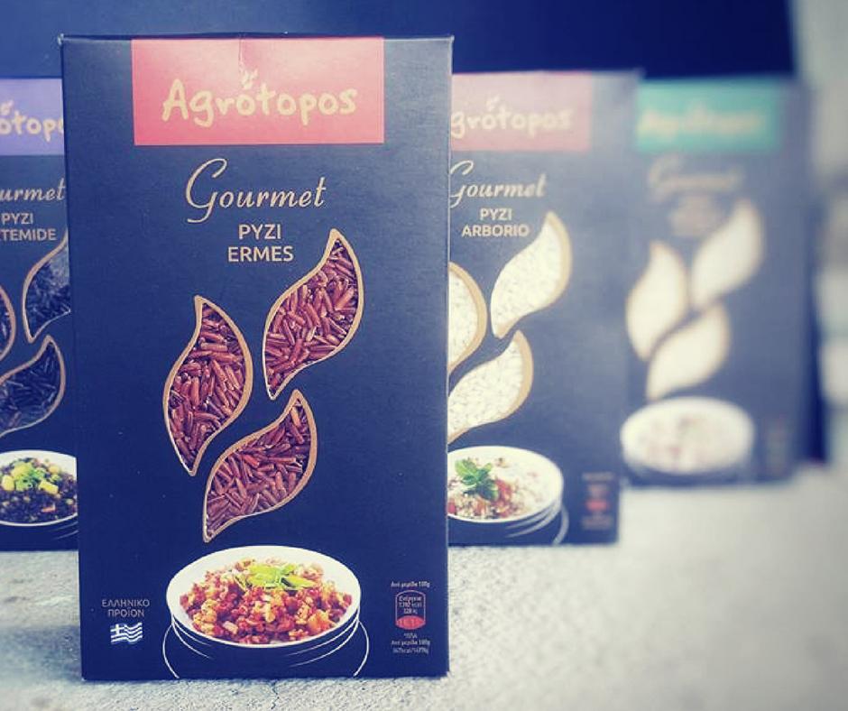 Ρύζι Ermes από την νέα σειρά Agrotopos Gourmet.