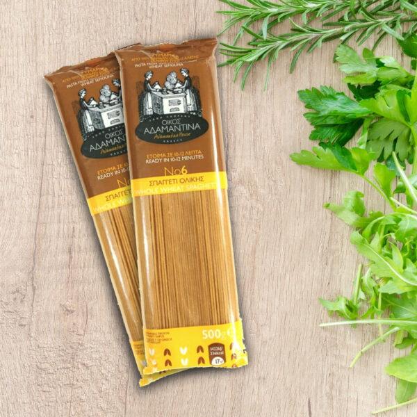 Spaghetti Ολικής Αλέσεως σίτου - ΑΔΑΜΑΝΤΙΝΑ