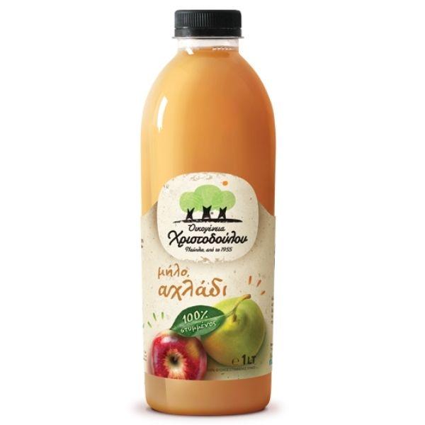 Χριστοδούλου Στυμμένος χυμός Αχλάδι & Μήλο 1λιτ
