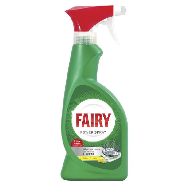 Fairy Power Spray Λιποκαθαριστής με άρωμα λεμόνι 375ml