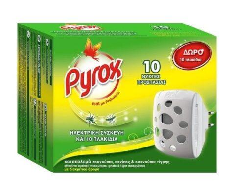 Pyrox Eντομοαπωθητική Συσκευή Πλακιδίων +10 Πλακίδια Δώρο