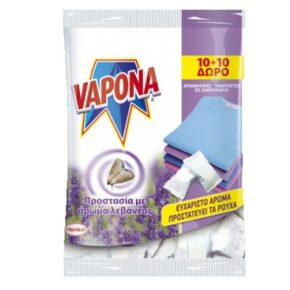 Vapona Σκοροαπωθητικό Αρωματικές Ταμπλέτες Λεβάντας 20τεμάχια