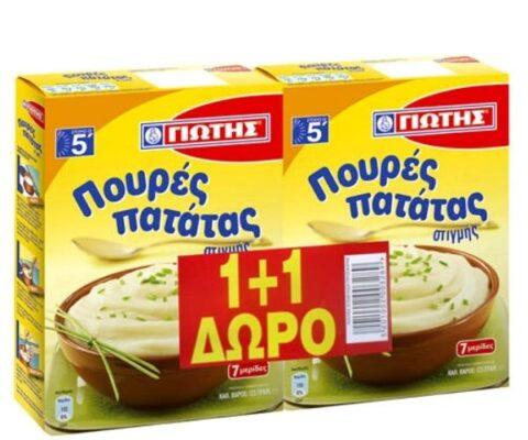 Γιώτης Πουρές Πατάτας Στιγμής Διπλή Συσκευασία 2x125gr (1+1 ΔΩΡΟ)