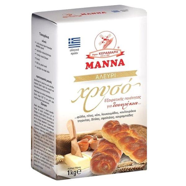 Μάννα Αλεύρι Χρυσό Για όλες τις Χρήσεις 1κιλ