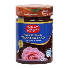 Παπαγεωργίου Γλυκό Κουταλιού Τριαντάφυλλο 450gr