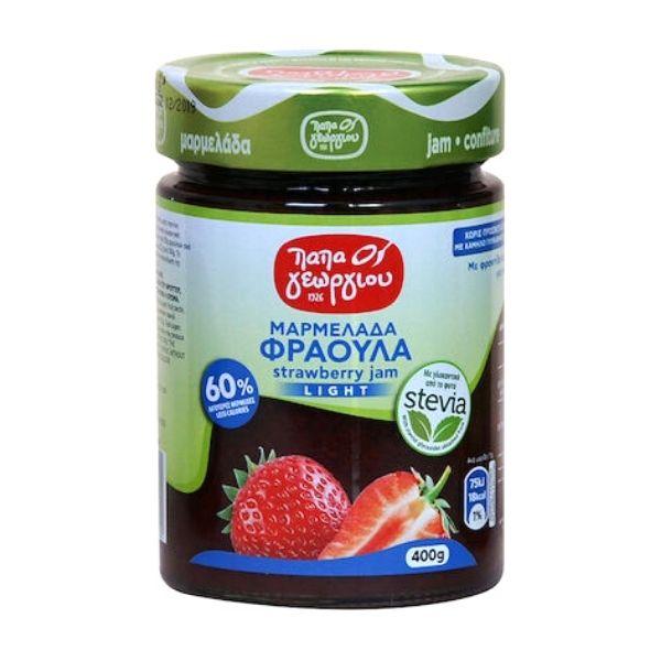 Παπαγεωργίου Μαρμελάδα Φράουλα με Στέβια 420gr