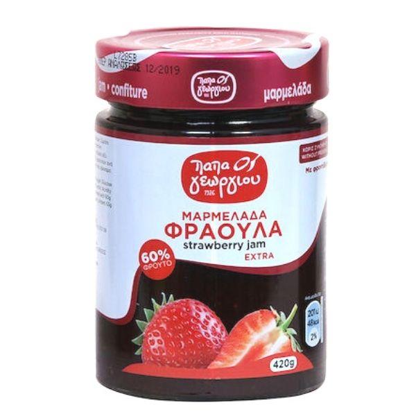 Παπαγεωργίου Μαρμελάδα Φράουλα Extra 420gr
